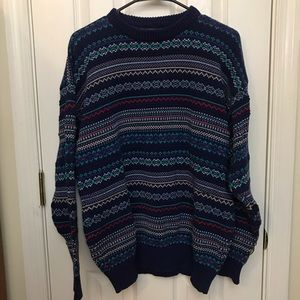 IZOD vintage cotton sweater fall colors size large